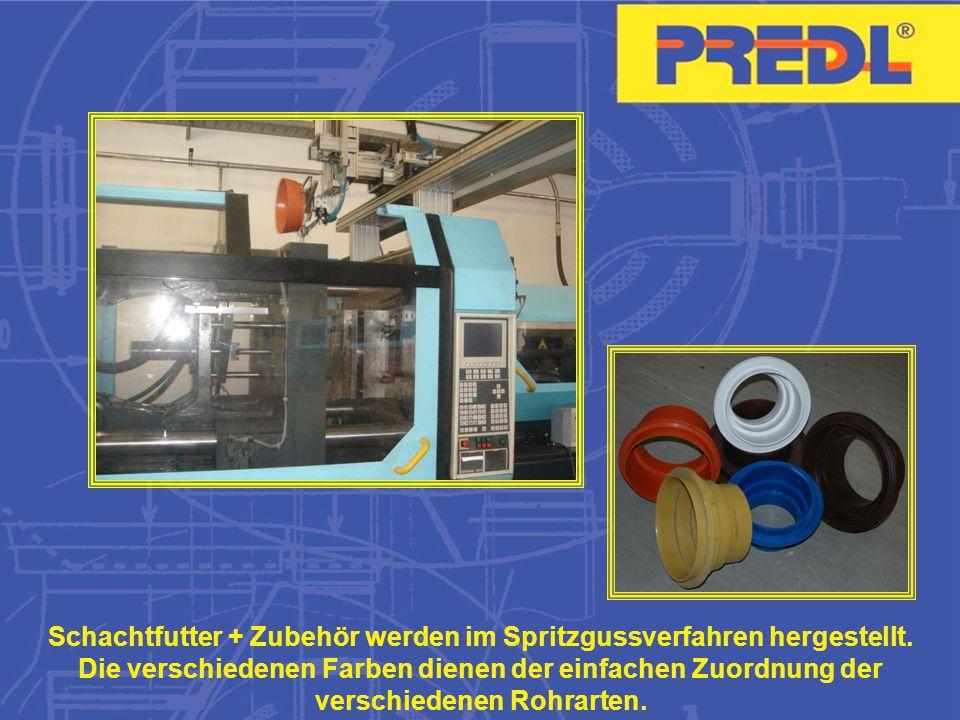 Schachtfutter + Zubehör werden im Spritzgussverfahren hergestellt.