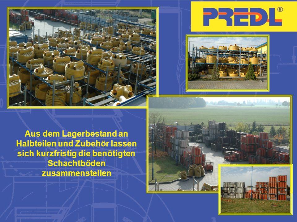 PREDL ® -Halbteile werden bei Franchise-Partnern im Betonwerk montiert.
