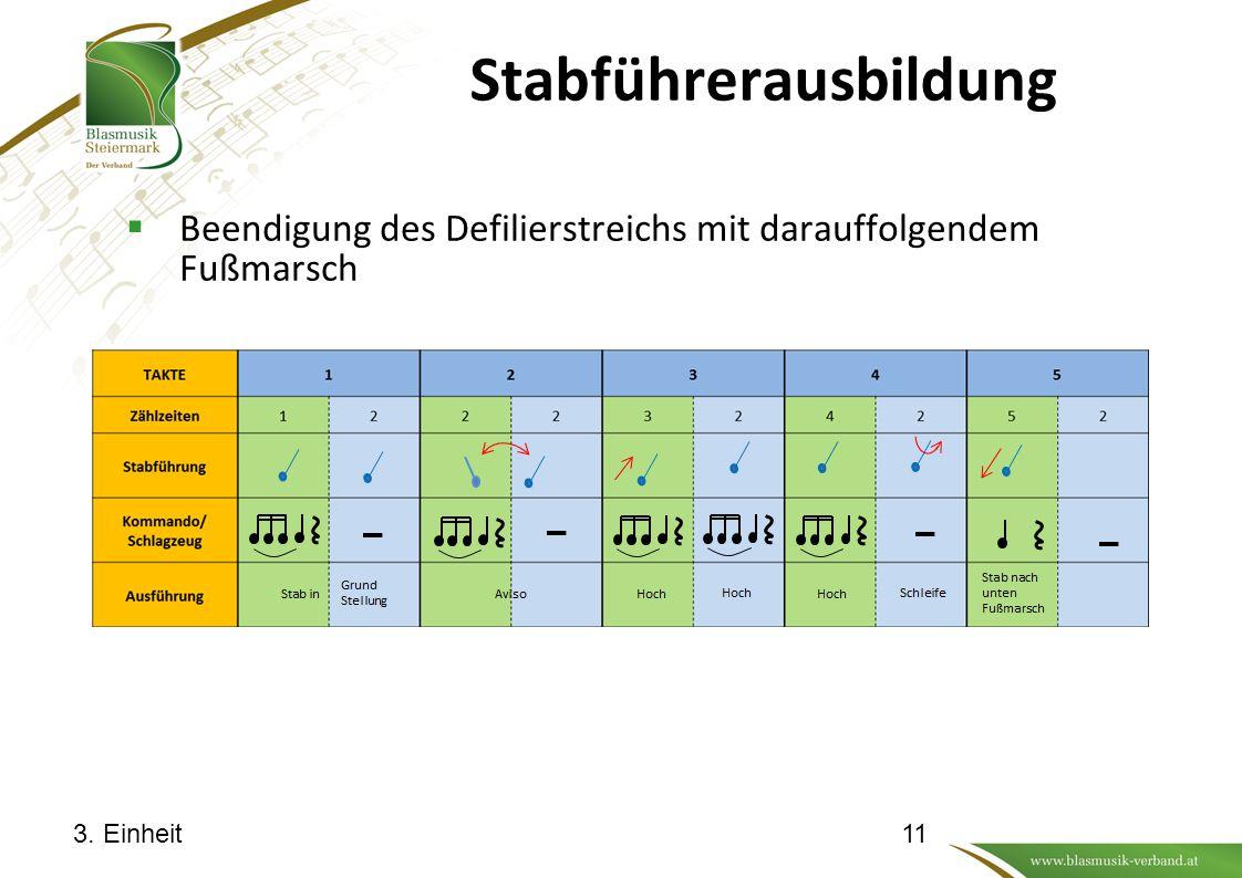Stabführerausbildung  Beendigung des Defilierstreichs mit darauffolgendem Fußmarsch 3. Einheit11