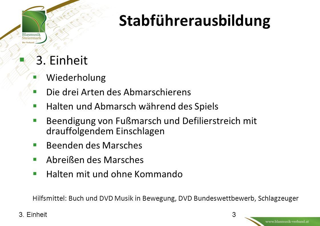 Stabführerausbildung  3.