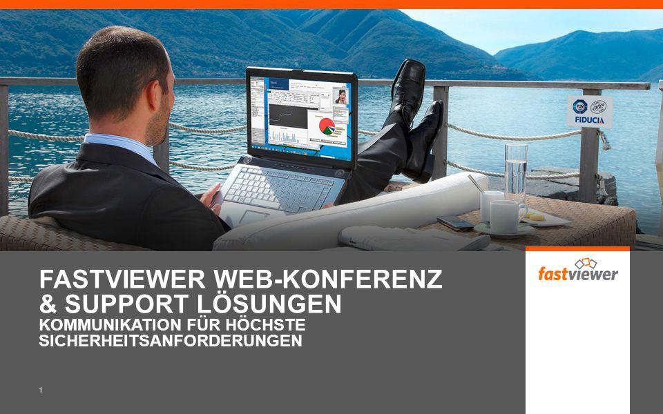 FASTVIEWER WEB-KONFERENZ & SUPPORT LÖSUNGEN KOMMUNIKATION FÜR HÖCHSTE SICHERHEITSANFORDERUNGEN 1