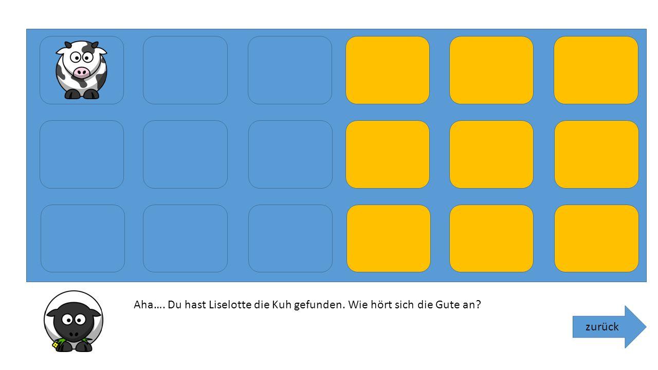 zurück Määäääh. Klicke auf das erste blaue Memoryfeld und suche bei den orangenen Feldern nach dem richtigen Geräuschen. Du schaffst das!