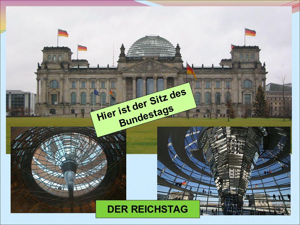 DER REICHSTAG Hier ist der Sitz des Bundestags