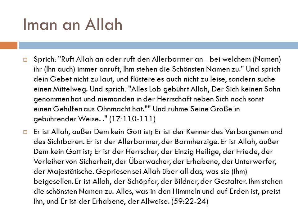 Iman an Allah  Sprich: