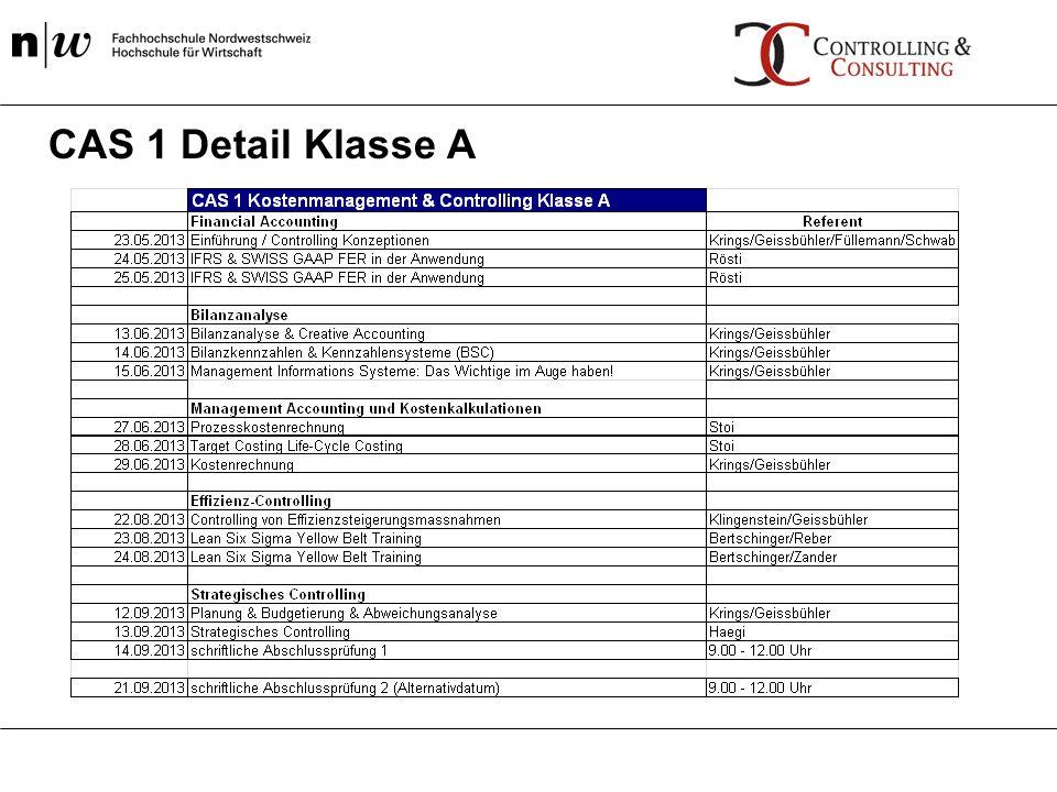 CAS 1 Detail Klasse A