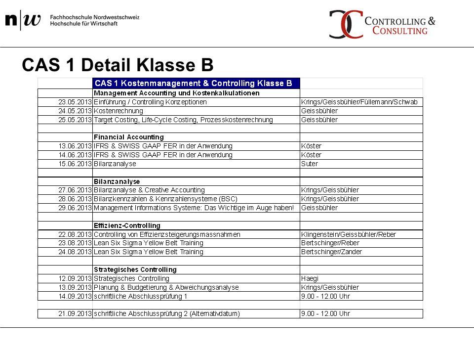 CAS 1 Detail Klasse B