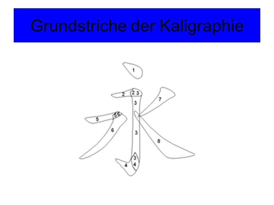 Grundstriche der Kaligraphie