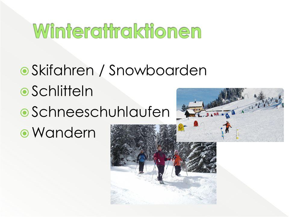  Skifahren / Snowboarden  Schlitteln  Schneeschuhlaufen  Wandern