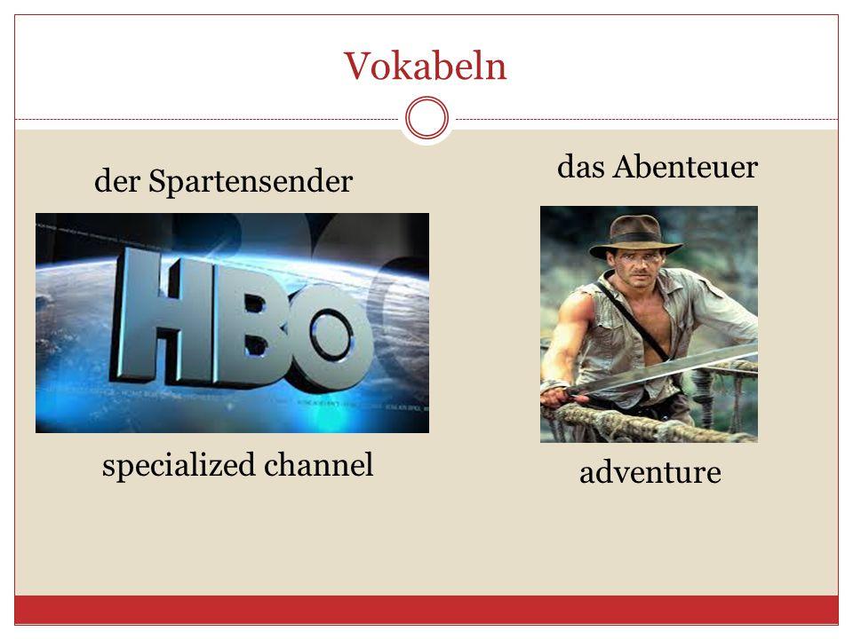 Vokabeln der Spartensender das Abenteuer specialized channel adventure