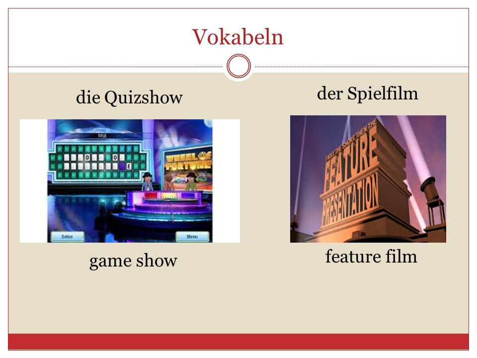 Vokabeln die Quizshow der Spielfilm game show feature film