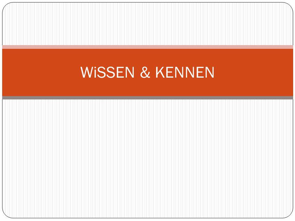 WiSSEN & KENNEN