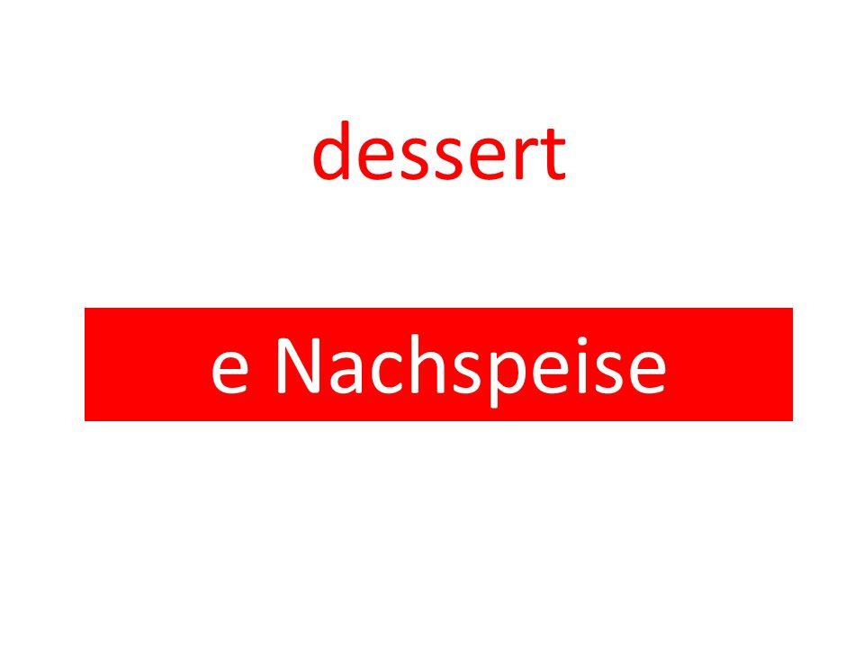 dessert e Nachspeise