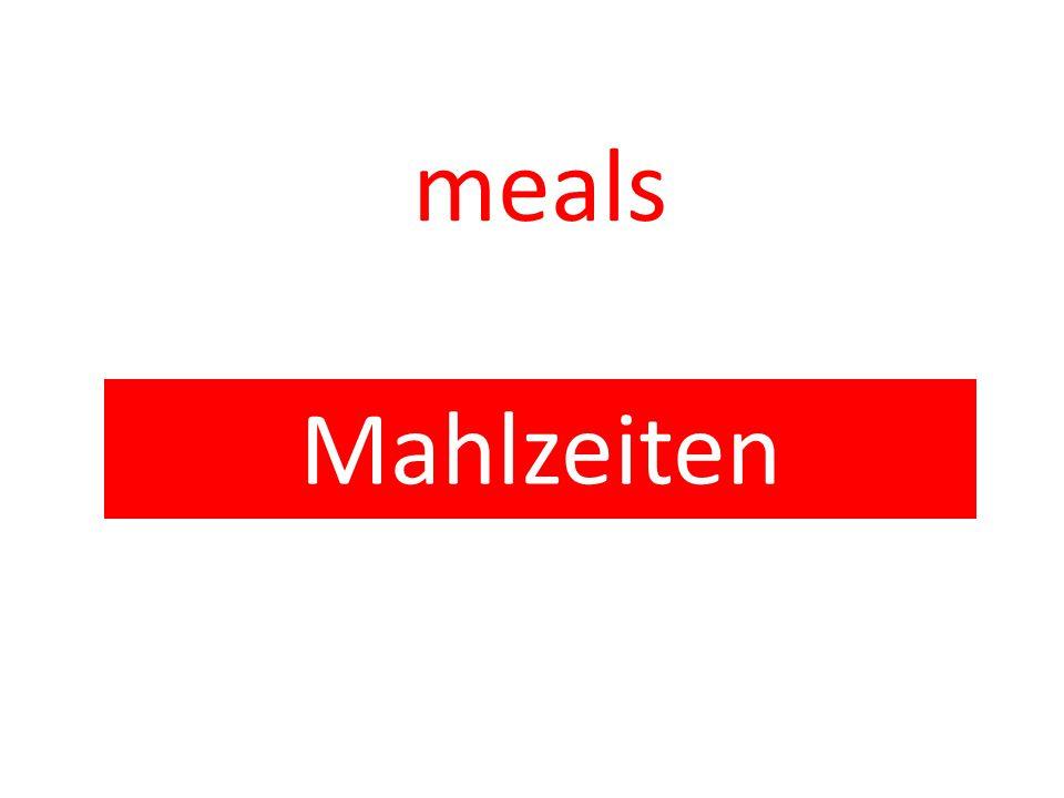 meals Mahlzeiten