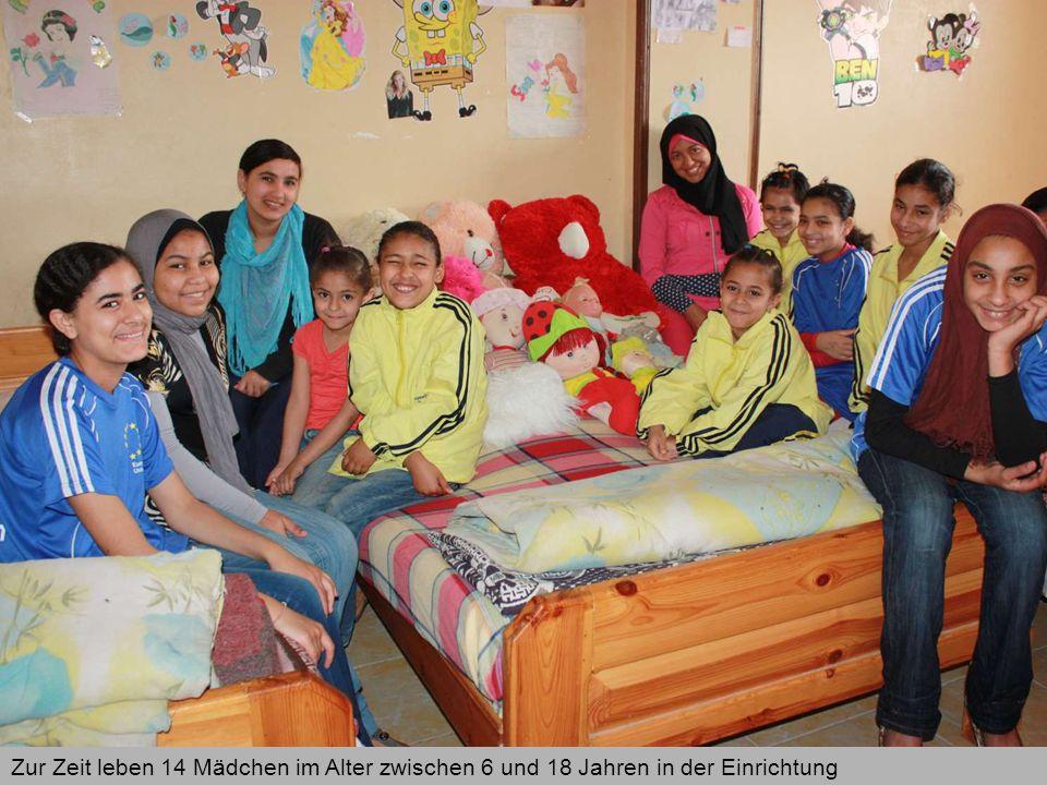 Zur Zeit leben 14 Mädchen im Alter zwischen 6 und 18 Jahren in der Einrichtung