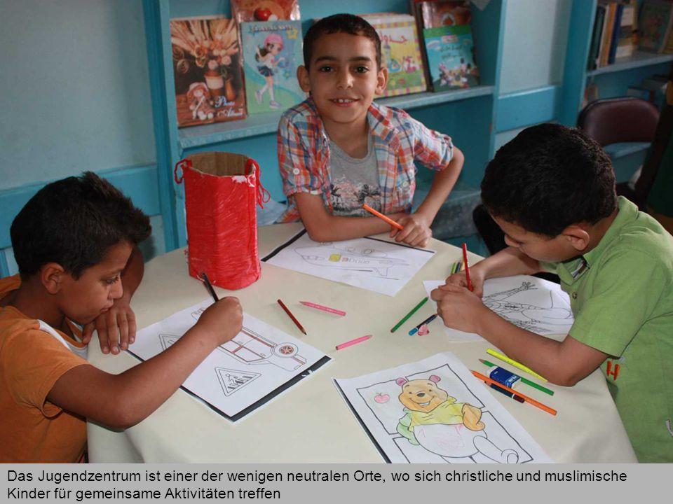 Das Jugendzentrum ist einer der wenigen neutralen Orte, wo sich christliche und muslimische Kinder für gemeinsame Aktivitäten treffen