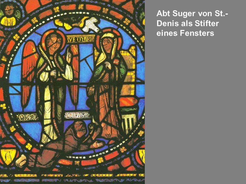 Abt Suger von St.- Denis als Stifter eines Fensters