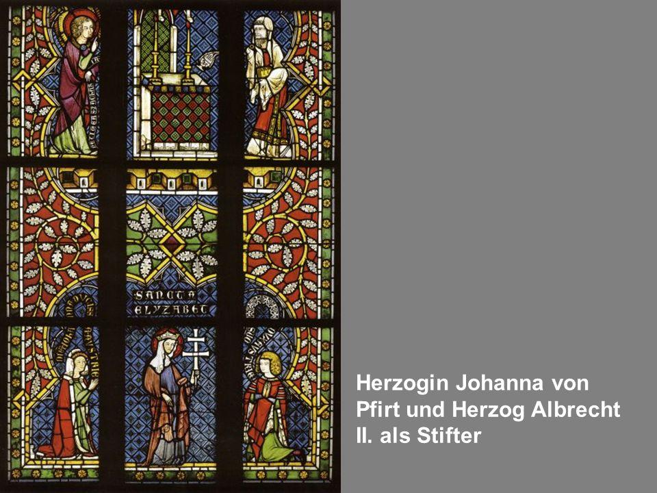 Herzogin Johanna von Pfirt und Herzog Albrecht II. als Stifter