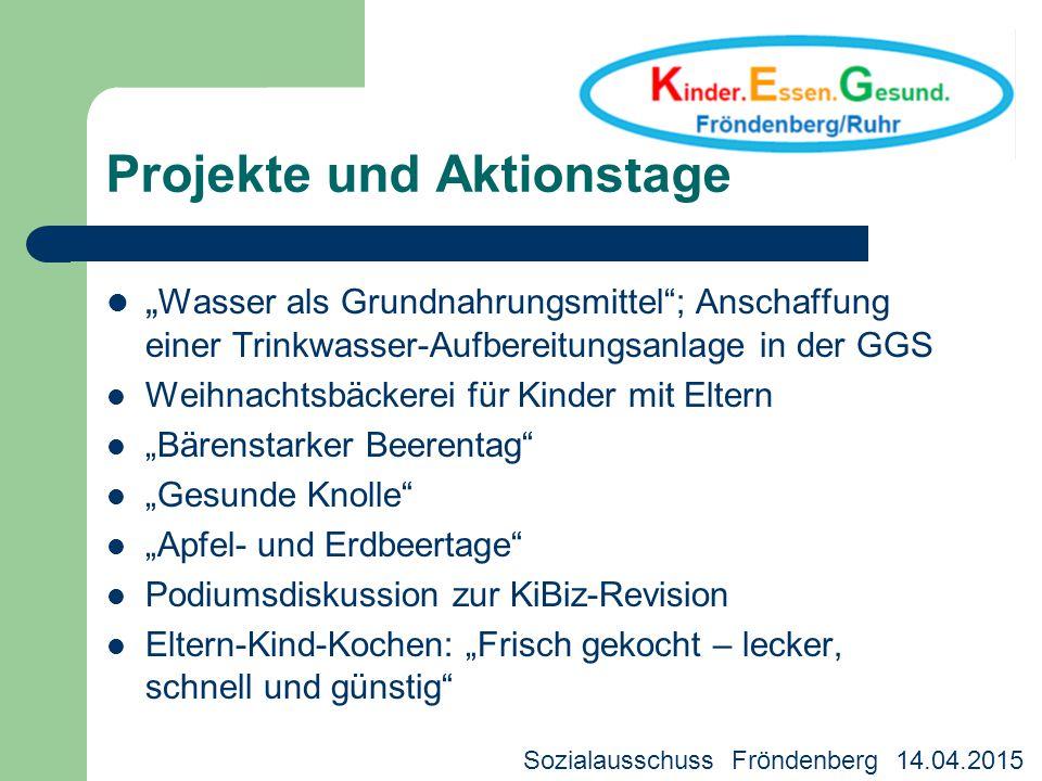 """Projekte und Aktionstage """" Wasser als Grundnahrungsmittel""""; Anschaffung einer Trinkwasser-Aufbereitungsanlage in der GGS Weihnachtsbäckerei für Kinder"""