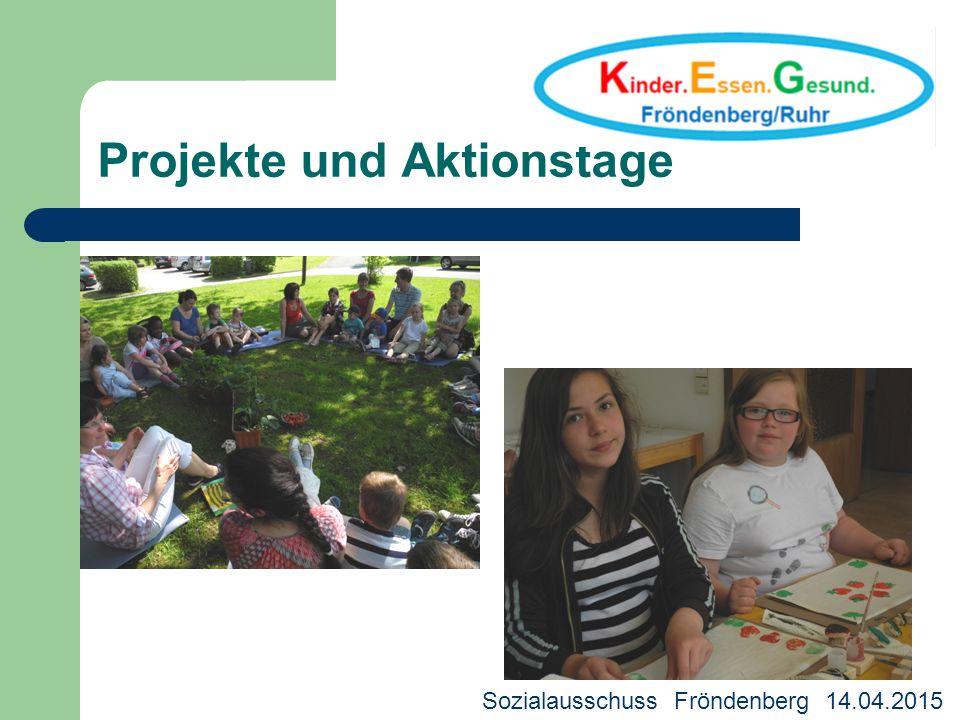 Projekte und Aktionstage Deutscher Bürgerpreis 2013 Sozialausschuss Fröndenberg 14.04.2015