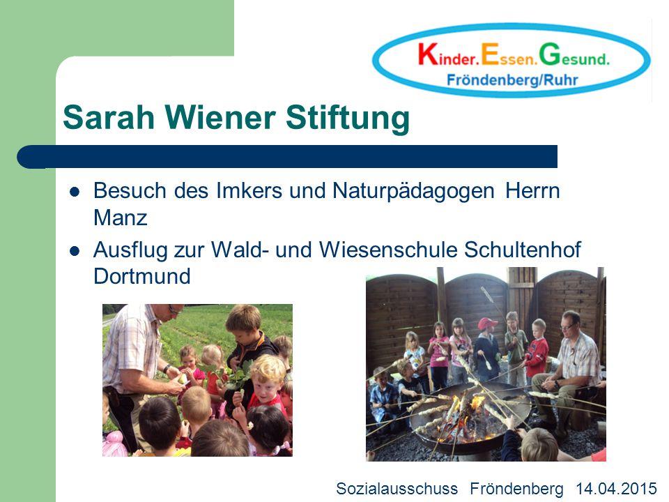 Sarah Wiener Stiftung Besuch des Imkers und Naturpädagogen Herrn Manz Ausflug zur Wald- und Wiesenschule Schultenhof Dortmund Kreisjugendhilfeausschus