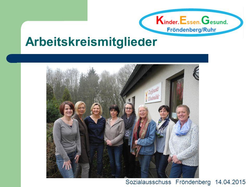 Arbeitskreismitglieder Kreisjugendhilfeausschuss 18.03.2013 Sozialausschuss Fröndenberg 14.04.2015