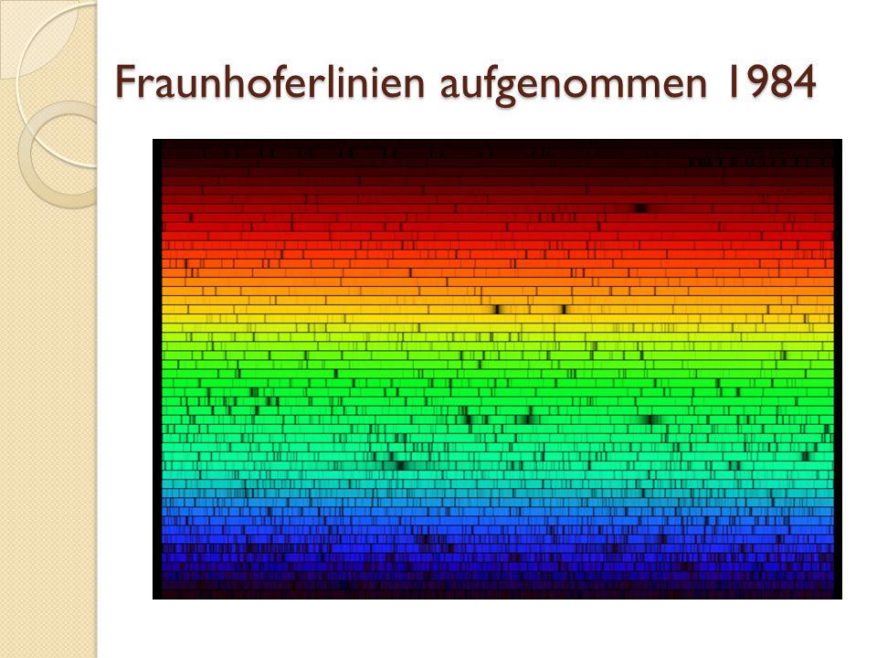 Fraunhoferlinien aufgenommen 1984