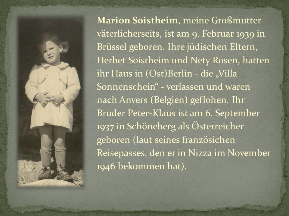 Marion Soistheim, meine Großmutter väterlicherseits, ist am 9.