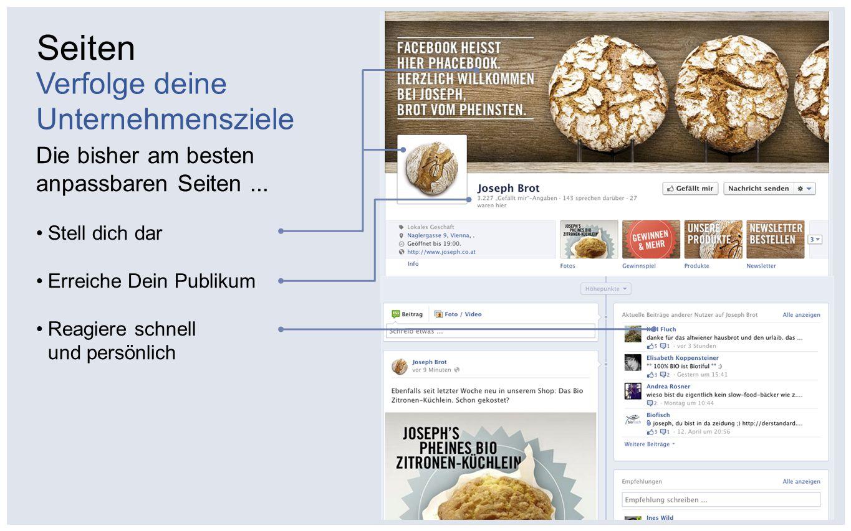 Schritt 1 Baue deine Facebook-Seite auf Schritt 2 Verbinde dich mithilfe mehrerer Facebook-Werbeanzeigen mit neuen Fans Schritt 3 Interagiere mit deinen Fans durch hochwertige Inhalte Schritt 4 Beeinflusse die Freunde deiner Fans mit den sozialen Aktivitäten deiner Seite 4 Schritte zum Unternehmenserfolg auf Facebook