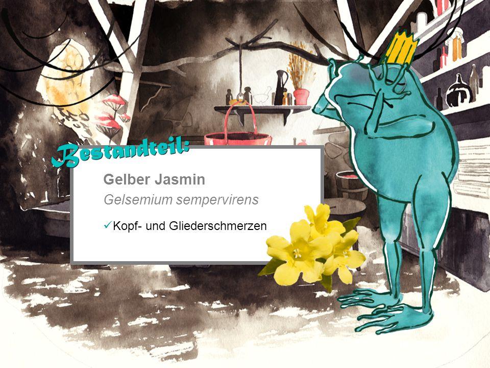 Gelber Jasmin Gelsemium sempervirens Kopf- und Gliederschmerzen Bestandteil: