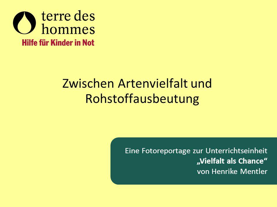 """Zwischen Artenvielfalt und Rohstoffausbeutung Eine Fotoreportage zur Unterrichtseinheit """"Vielfalt als Chance"""" von Henrike Mentler"""