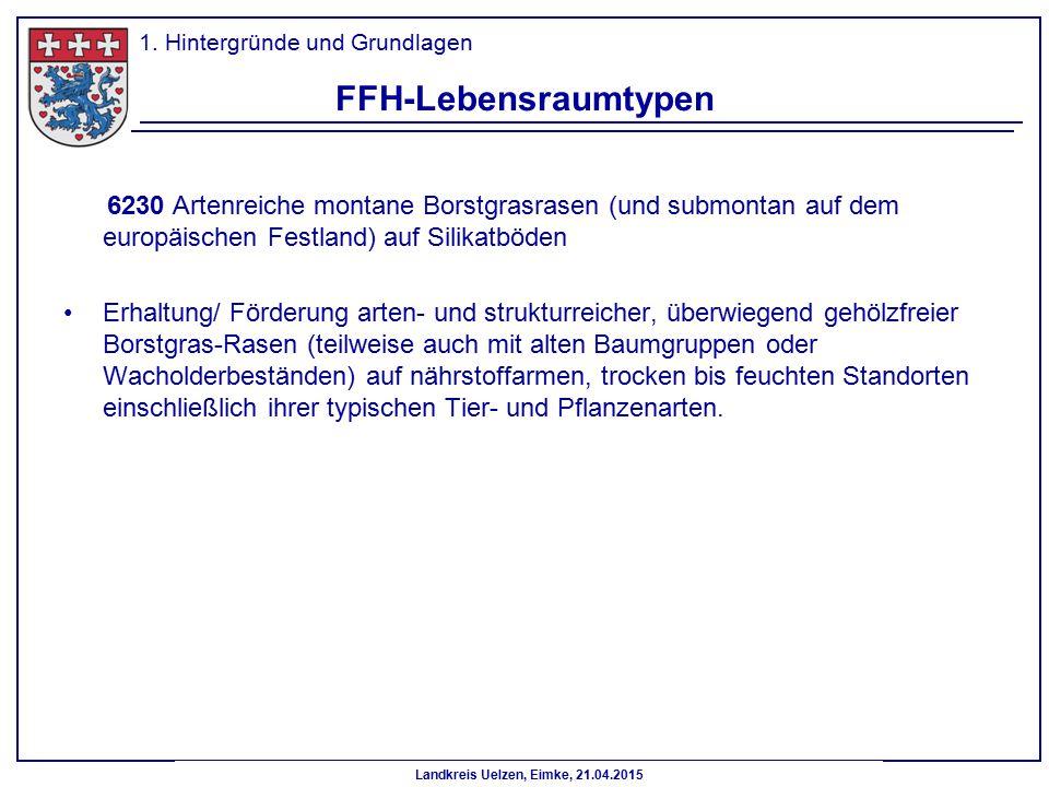 Landkreis Uelzen, Eimke, 21.04.2015 FFH-Lebensraumtypen 6230 Artenreiche montane Borstgrasrasen (und submontan auf dem europäischen Festland) auf Sili