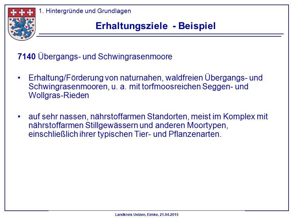Landkreis Uelzen, Eimke, 21.04.2015 7140 Übergangs- und Schwingrasenmoore Erhaltung/Förderung von naturnahen, waldfreien Übergangs- und Schwingrasenmo