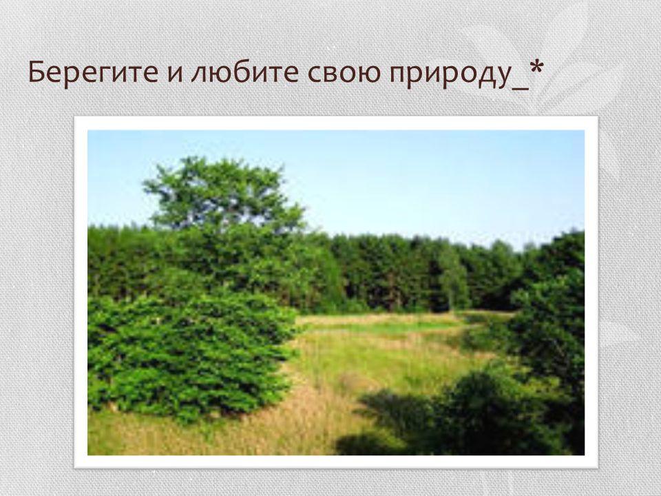 Берегите и любите свою природу_*