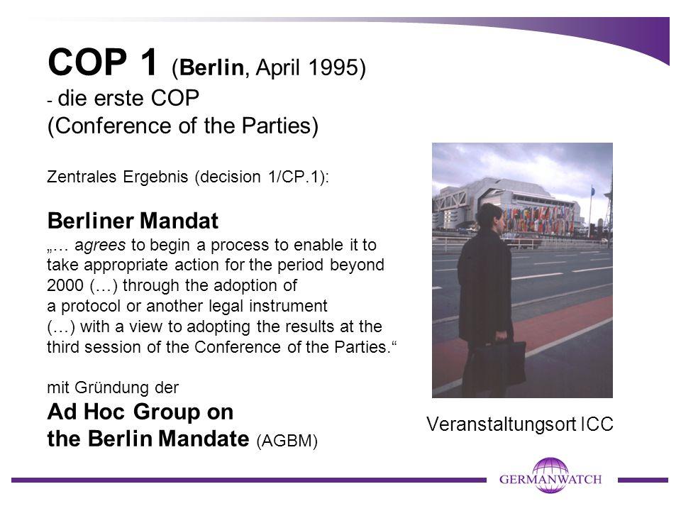 Side event des European Business Council auf COP 1 COP-Präsidentin Angela Merkel spricht