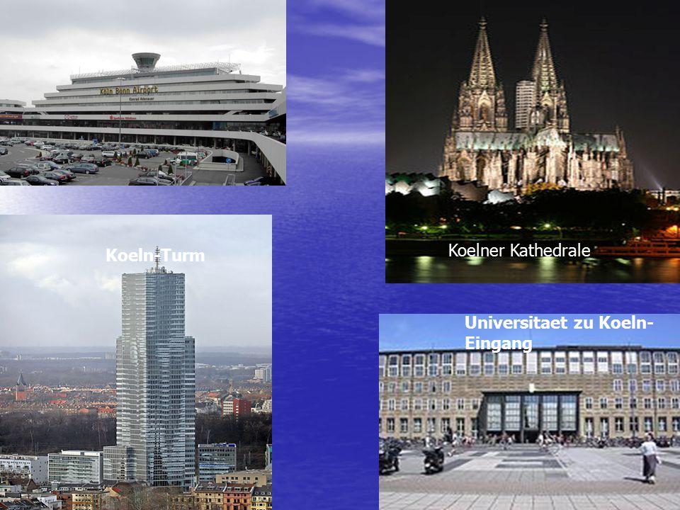 Koeln-Turm Universitaet zu Koeln- Eingang Koelner Kathedrale