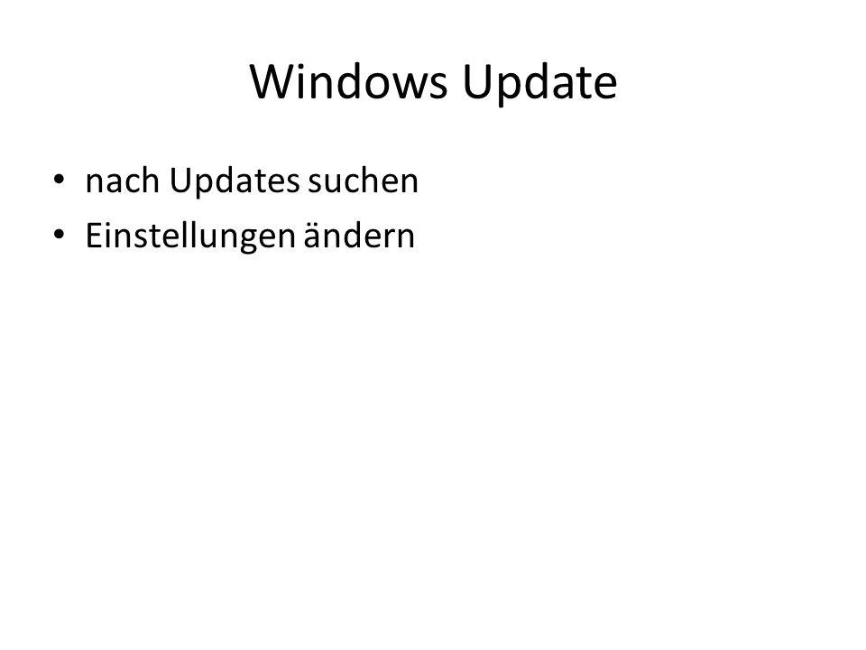 Windows Update nach Updates suchen Einstellungen ändern
