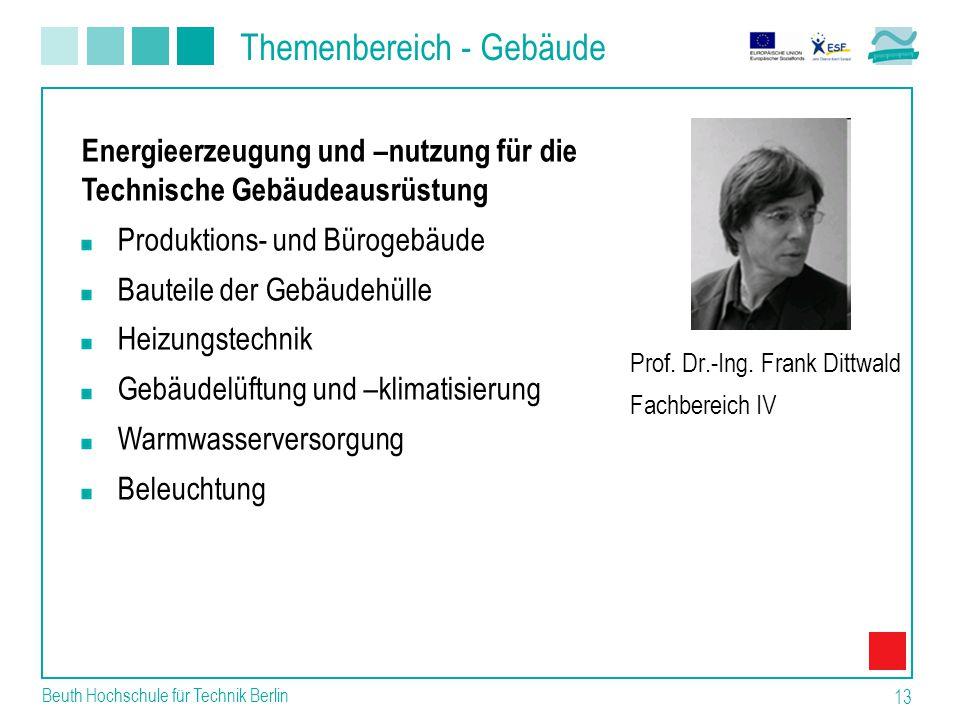 Themenbereich - Gebäude Beuth Hochschule für Technik Berlin 13 Prof.