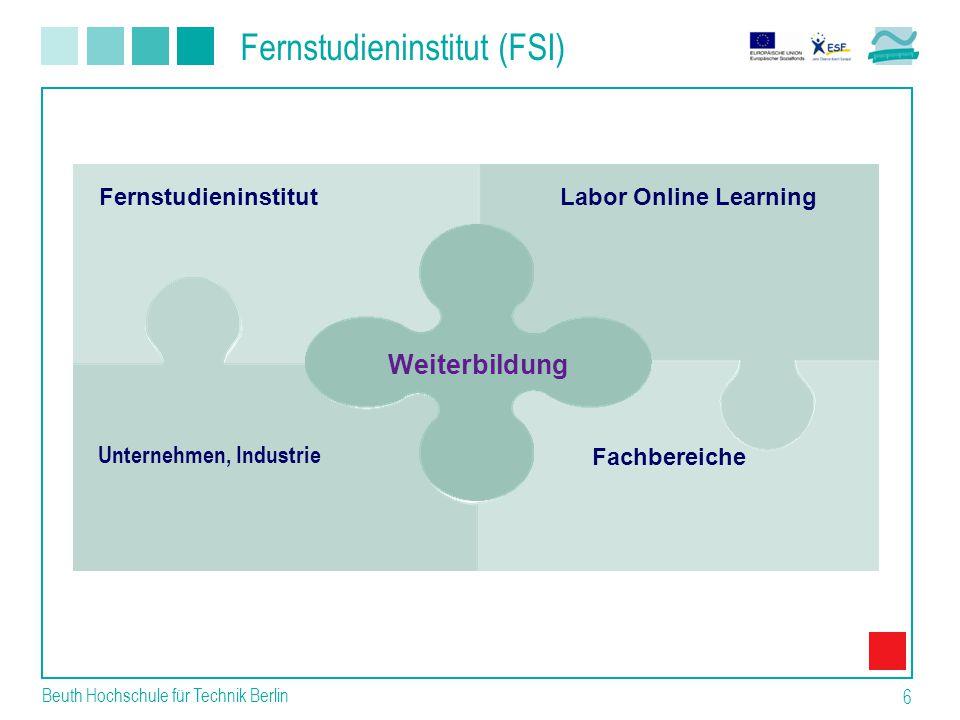 Beuth Hochschule für Technik Berlin 6 Labor Online Learning Fernstudieninstitut Fachbereiche Weiterbildung Unternehmen, Industrie Fernstudieninstitut (FSI)