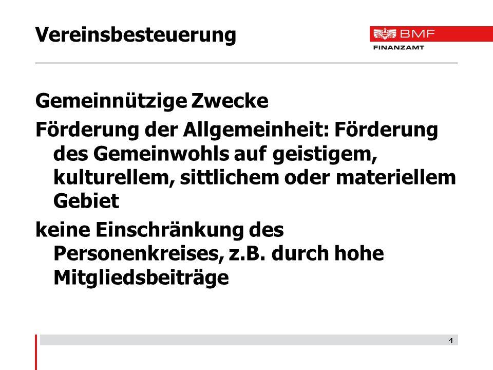 25 Vereinsbesteuerung Beispiele Kantine Druckwerke mit Anzeigenumsatz über 50% große Vereinsfeste
