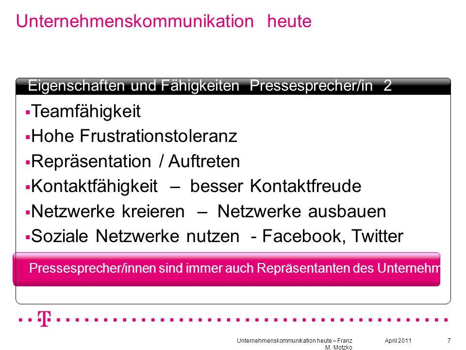 """18 Unternehmenskommunikation heute Textbox Headline  Kommunikationskultur - nach innen - nach außen  Welche """"Sprache findet Anwendung - Jugendsprache."""