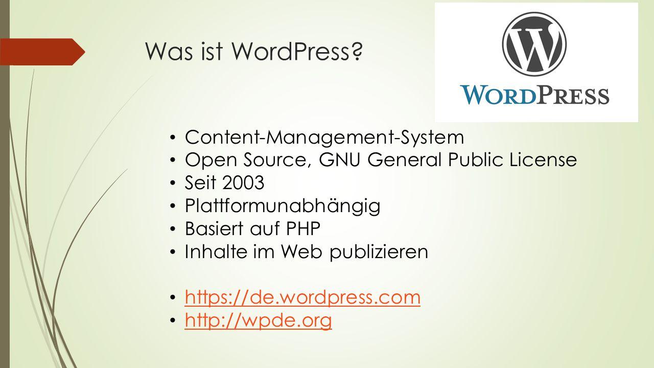 Was ist WordPress.