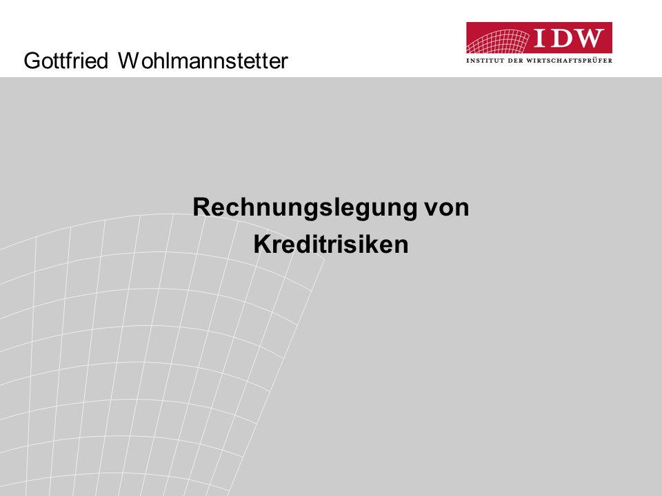 Gottfried Wohlmannstetter Rechnungslegung von Kreditrisiken
