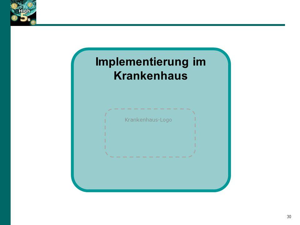 30 Implementierung im Krankenhaus Krankenhaus-Logo