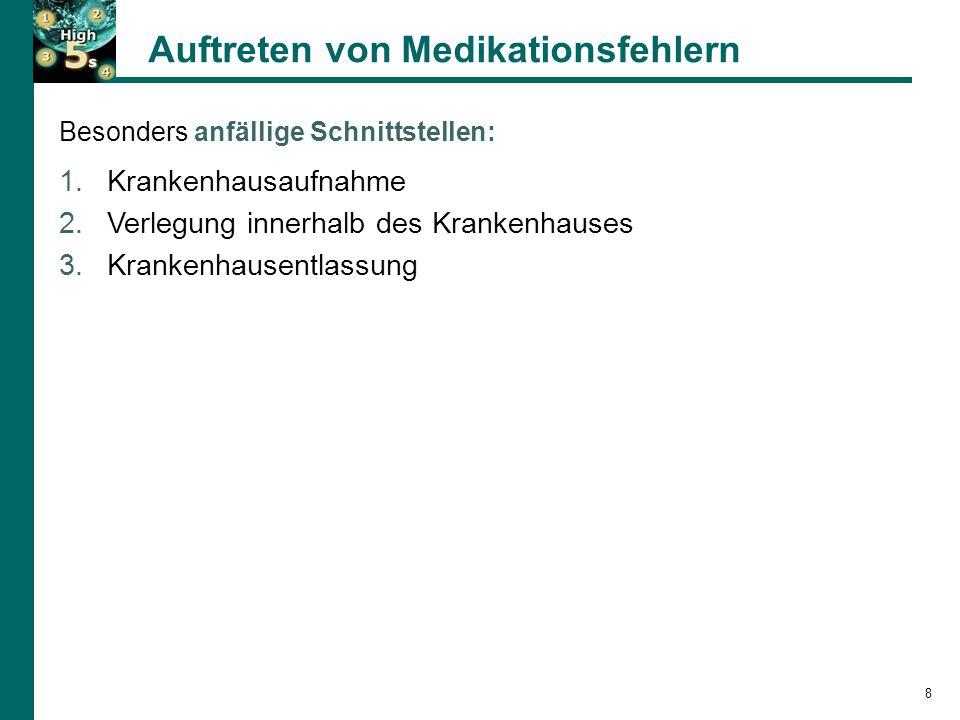 Ergebnisse eines Projektkrankenhauses SOP MedRec Basiserhebung Bayer K/Renner D/Schnitzer C.