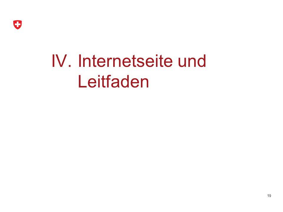 19 IV.Internetseite und Leitfaden