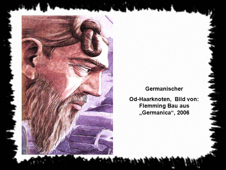 """Germanischer Od-Haarknoten, Bild von: Flemming Bau aus """"Germanica"""", 2006"""
