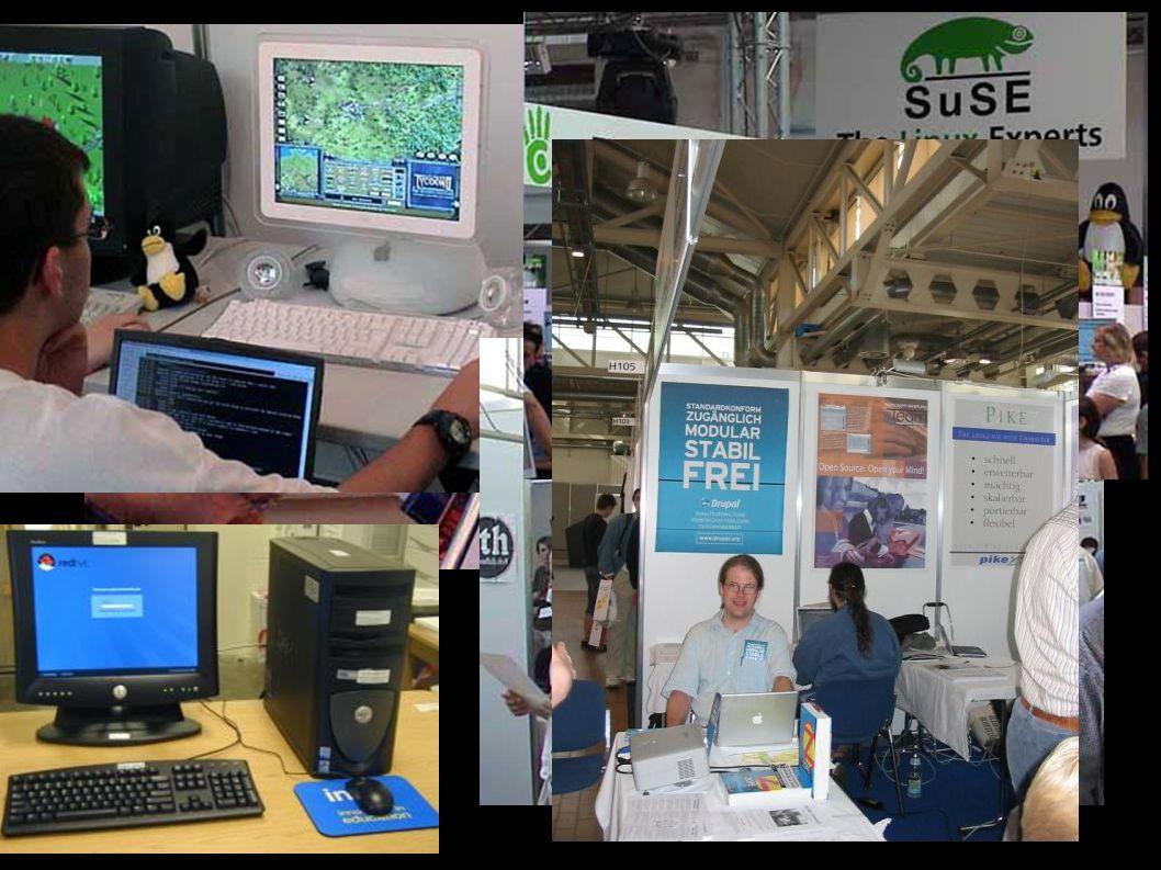 Was ist LinuxTag? ● Der Linux Tag ist eine große Konferenz in Karlshrue. ● Er ist vom 22. bis 25. Juni jedes Jahr. ● Es ist eine internationale Konfer