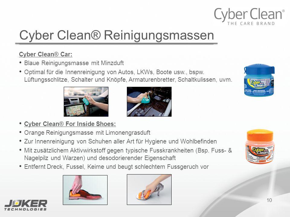 10 Cyber Clean® Car: Blaue Reinigungsmasse mit Minzduft Optimal für die Innenreinigung von Autos, LKWs, Boote usw., bspw. Lüftungsschlitze, Schalter u