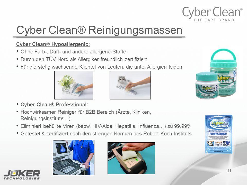 11 Cyber Clean® Hypoallergenic: Ohne Farb-, Duft- und andere allergene Stoffe Durch den TÜV Nord als Allergiker-freundlich zertifiziert Für die stetig