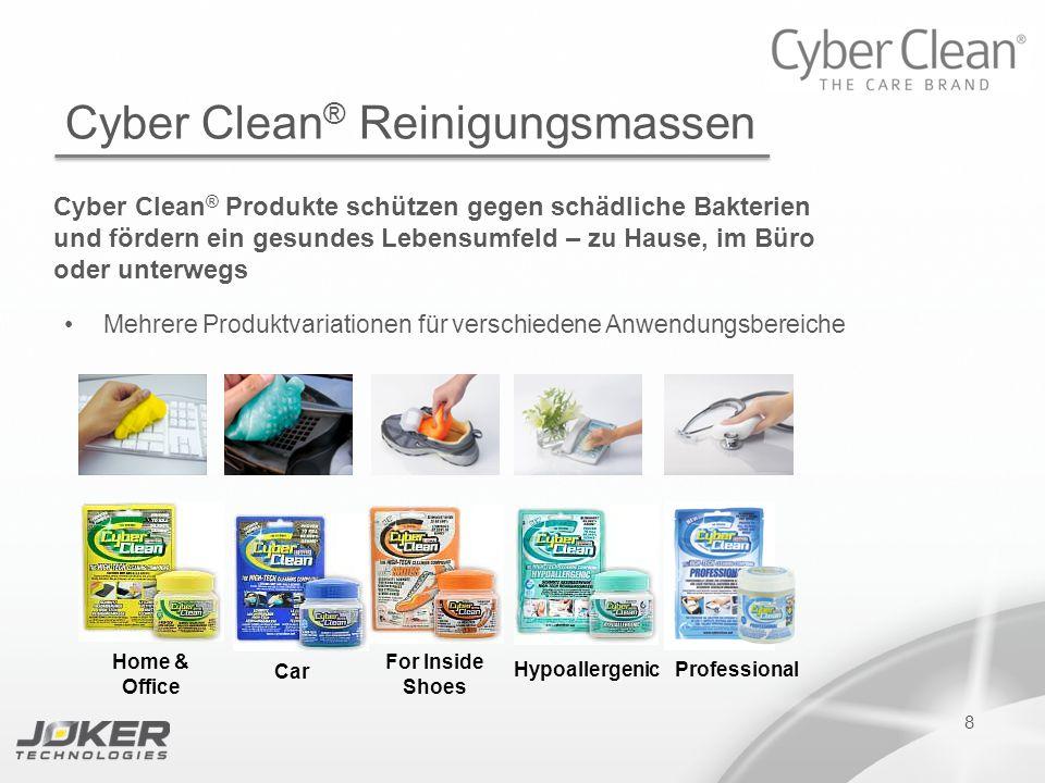 PRESENTATION SUBTITLE PRESENTATION TITLE Version 1.0 16-05-2011 presents 8 Cyber Clean ® Reinigungsmassen Cyber Clean ® Produkte schützen gegen schädl